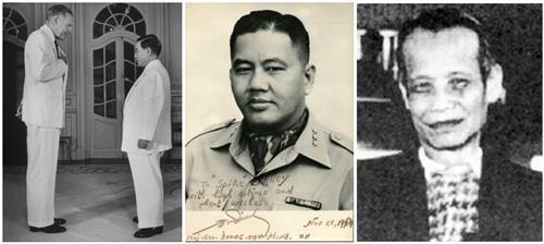 Đại sứ Cabot Lodge và ông Diệm - Tướng Dương Văn Minh - Bác sĩ Trần Kim Tuyến