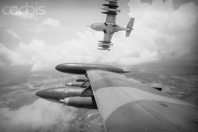 Bombers in Flight Over Vietnam