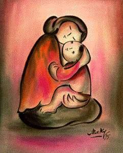 Mẹ và Con (tranh Bé Ký)