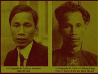 Nguyễn Ái Quốc năm 21 tuổi và 41 tuổi