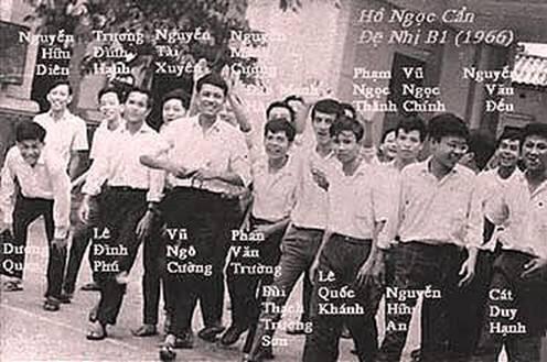 Một lớp học Trường Hồ Ngọc Cẩn 1966
