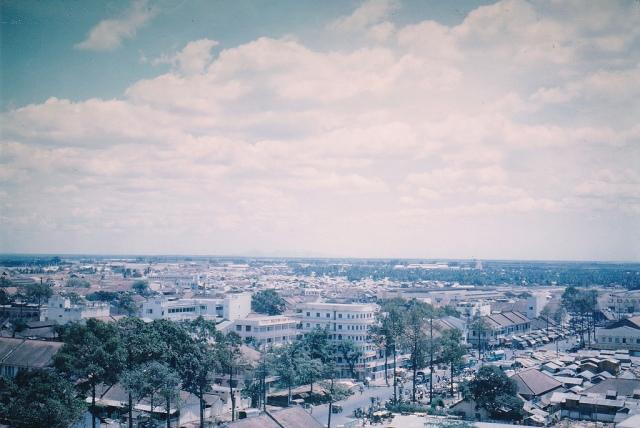 1964 Saigon nhìn từ trên cao Photo by Chris Newlon Green (nguồn: manhhai flickr)