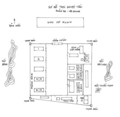 Sơ đồ trại Quyết Tiến(Xin đón nhận sự góp ý để hoàn chỉnh sơ đồ trại Quyết Tìến)