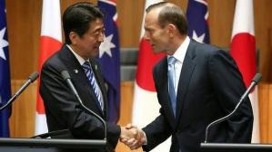 Thủ tướng Shinzo Abe và Thủ tướng Tony Abbott @smh.com.au
