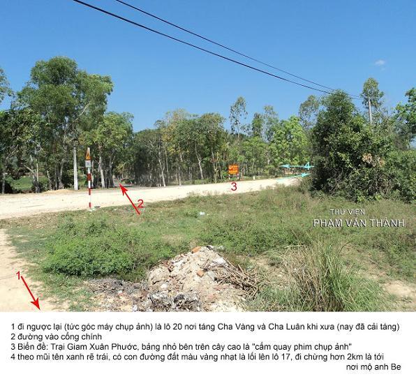 """nếu theo con đường đất mà đi thẳng quá điểm """"4″ thì sẽ vào phân trại B khi xưa (nay bọn chúng đã dẹp bỏ B – C – D để làm một thủy điện nhỏ khoảng sau năm 2000)"""