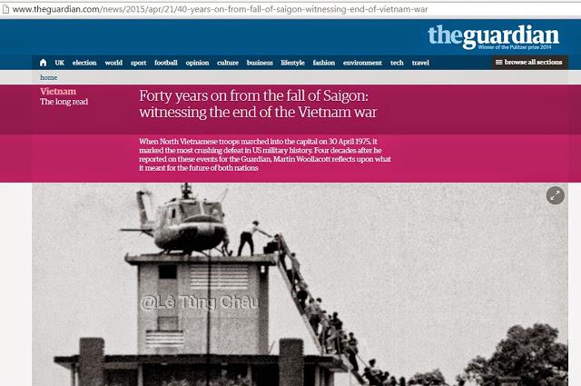 Bài của Martin Woollacott trên báo The Guardian, Tuesday 21 April 2015