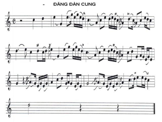 (Điệu) Đăng Đàn Cung - Sáo, Tranh.                    http://nguyendinhnghia.net/LFlute/html/NhacHue_DangDanCung.html