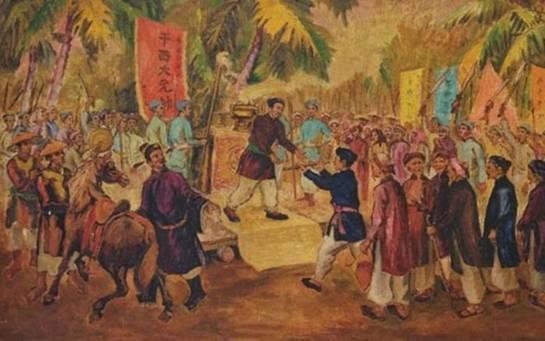 Cuộc khởi nghĩa Trương Định 1859, lá cờ Bình Tây Đại Nguyên Soái </span -Ảnh minh họa