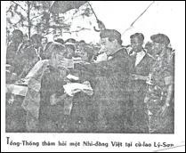 Tổng Thống Ngô Đình Diệm tại đảo Lý Sơn