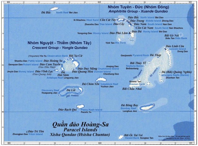 Bản đồ quần đảo Hoàng Sa (Paracell Islands)