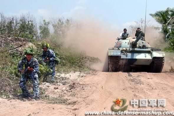 Chiến xa TQ trên quần đảo Hoàng Sa