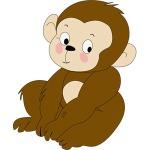 Khỉ Con (Tranh: FreeVector.net)