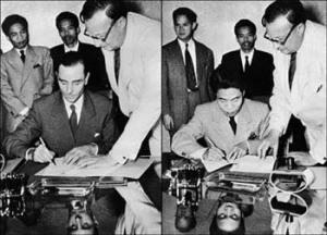 Pháp và Việt Minh ký Hiệp định Geneva