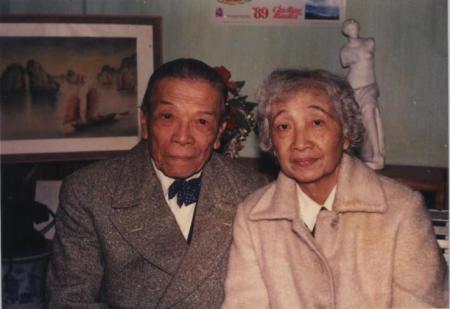 Hình Luật Sư Nguyễn Mạnh Tường và vợ, bà Tống Lệ Dung.