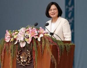 Bà Thái Anh Văn tại buổi lễ nhậm chức. (Nguồn: Reuters)
