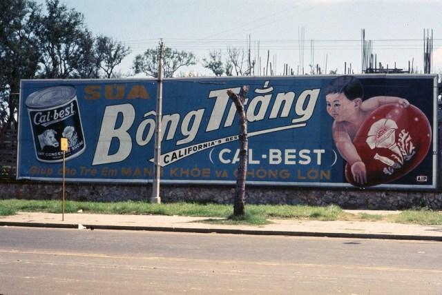Saigon Oct 1968 <br/>Cal-Best sign opposite Embassy