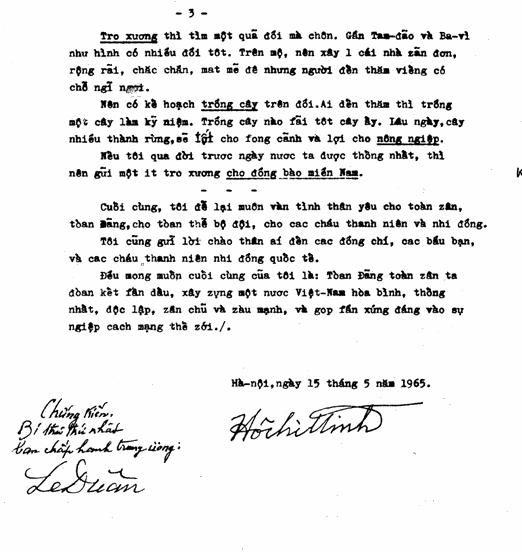 """Bản thảo đánh máy """"Tuyệt đối bí mật"""" - Di chúc của Chủ tịch Hồ Chí Minh viết năm 1965"""